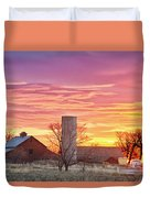 Early Country Morning Sunrise Duvet Cover