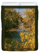 Early Fall On The Navasota Duvet Cover