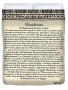 Early Gothic Style Desiderata Duvet Cover