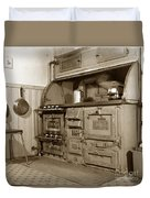 Early Kitchen With A Gas Stove 1920 Duvet Cover
