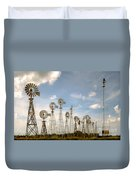 Early Model Wind Farm Duvet Cover