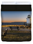 Early Morning At Bug Lighthouse Duvet Cover