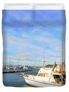 Early Morning At Maalaea Marina Duvet Cover
