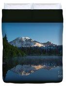Early Morning At Mount Rainier Duvet Cover