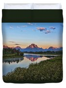 Early Morning At Oxbow Bend Duvet Cover