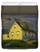 Early Morning At Peggys Cove In Nova Scotia Canada Duvet Cover