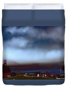 Early Morning At The Golden Gate Duvet Cover