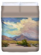 Early Morning At Thousand Palms Duvet Cover