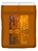 Early Morning Canyon Reflection Duvet Cover