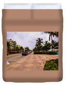 Early Morning In Miami Beach Duvet Cover