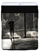 Early Morning Jog Duvet Cover