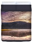 Early Morning Lake Light Duvet Cover by Robert Bales