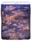 Early Morning Light On Minerva Springs Yellowstone National Park Duvet Cover