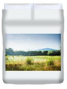 Early Morning Mist In The Valleys And Farmlands Of The Blue Ridge Mountains Duvet Cover
