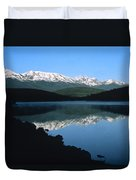 Early Morning Mountain Reflection Duvet Cover