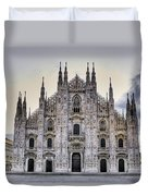 Early Morning On Il Duomo Duvet Cover