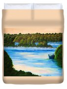Early Morning On Lake Peipsi  Duvet Cover