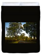Early Morning On The Way To Trossachs. Scotland Duvet Cover