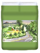 Early Morning Out Route Jj Duvet Cover