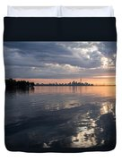 Early Morning Reflections - Lake Ontario And Downtown Toronto Skyline  Duvet Cover