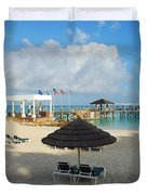 Early Morning Shade On A Tropical Beach   Duvet Cover