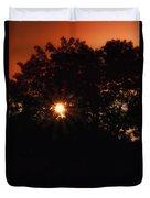 Early Morning Sun Burst Duvet Cover