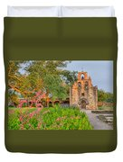Early Morning Sun Caressing Mission Espada Duvet Cover