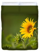 Early Morning Sunflowers Duvet Cover
