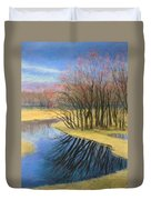 Early Spring At Catfish Corner Duvet Cover