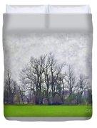 Early Spring Landscape  Digital Paint Duvet Cover