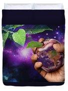 Earth Apple Duvet Cover