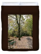Earth Day Special - Bench In The Park Duvet Cover