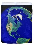 Earth From Space America Duvet Cover