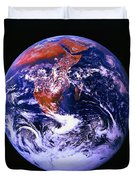 Earth From Space Centered On East Africa Duvet Cover