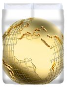 Earth In Gold Metal Isolated - Africa Duvet Cover