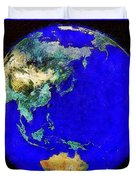 Earth Seen From Space Australia And Azia Duvet Cover