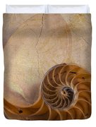 Earthy Nautilus Shell  Duvet Cover