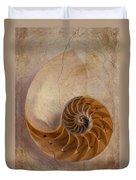Earthy Nautilus Shell  Duvet Cover