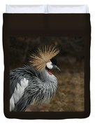 East African Crowned Crane Painterly Duvet Cover