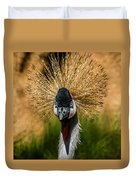 East African Crowned Crane Square Format Duvet Cover