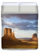 East And West Mittens Monument Valley Duvet Cover