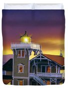 East Brother Lighthouse Duvet Cover
