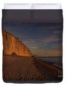 East Cliff Sunset Dorset Duvet Cover
