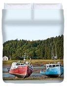 East Coast Low Tide Scene Duvet Cover