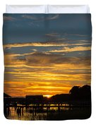 East Coast Sunset Duvet Cover