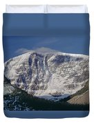 1m3743-east Face Mt. Kitchener With Cloud Duvet Cover