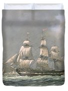 East Indiaman Hcs Thomas Coutts Off The Needles     Isle Of Wight Duvet Cover by Richard Willis