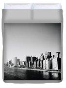 East River New York Duvet Cover