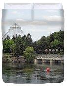East Riverfront Park And Dam - Spokane Washington Duvet Cover