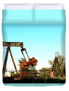 East Texas Oil Field Duvet Cover